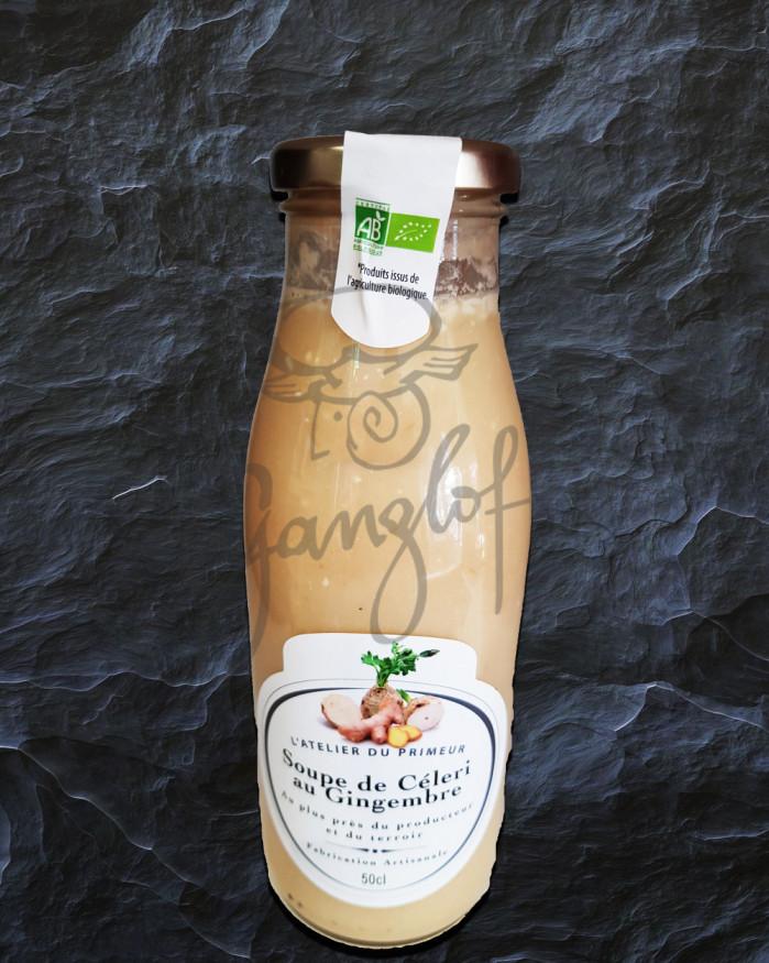 Soupe de céleri au gingembre